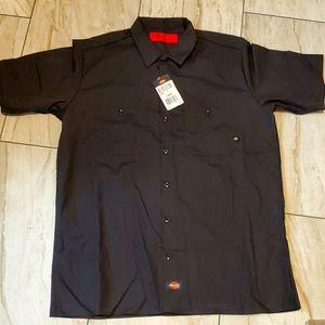 Dickies black work shirt large NWT